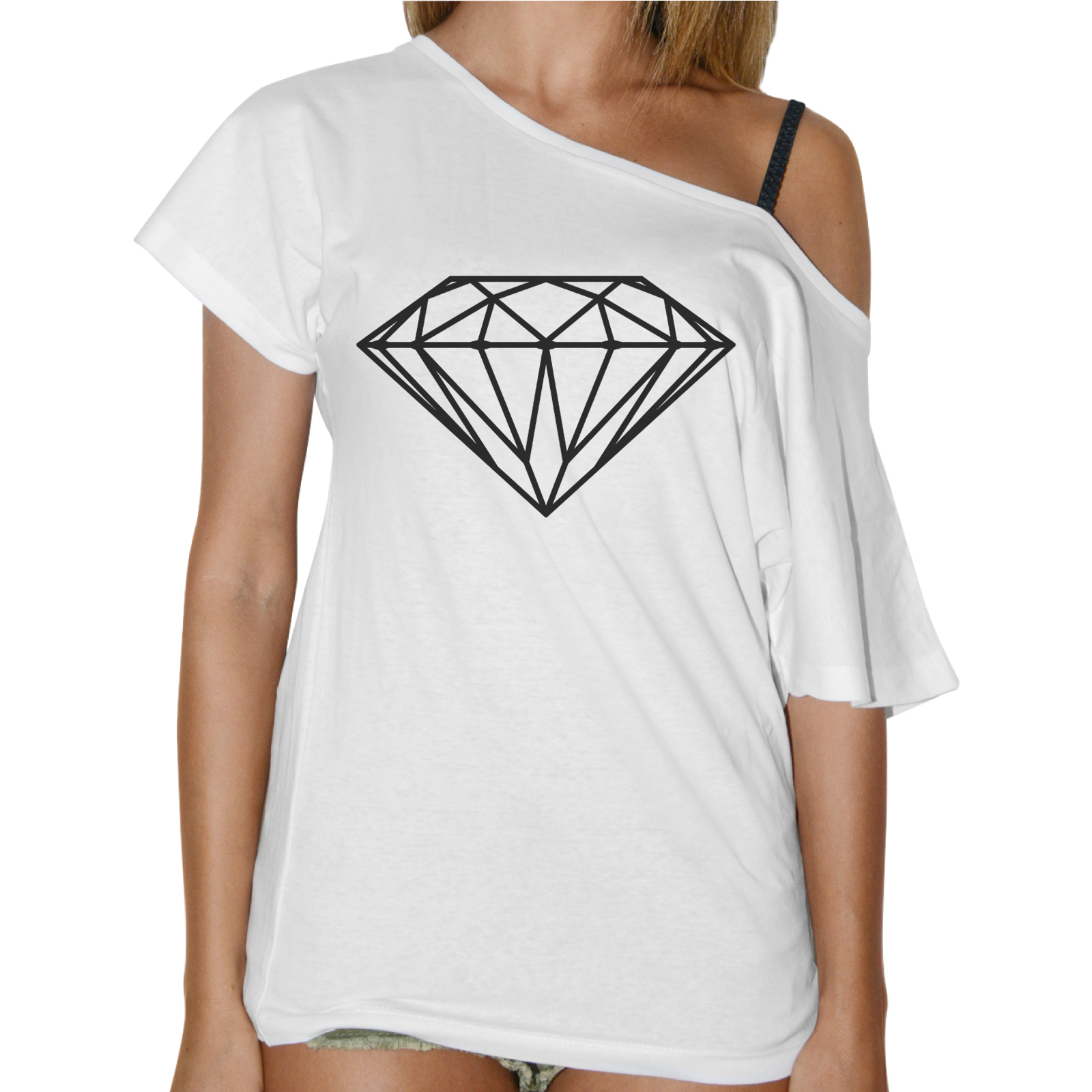 T-Shirt Donna Collo Barca DIAMANTE BASIC