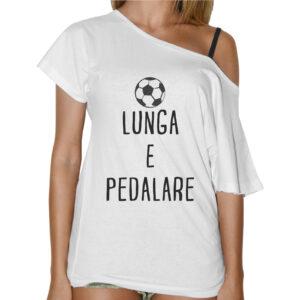 T-Shirt Donna Collo Barca PALLA LUNGA E PEDALARE