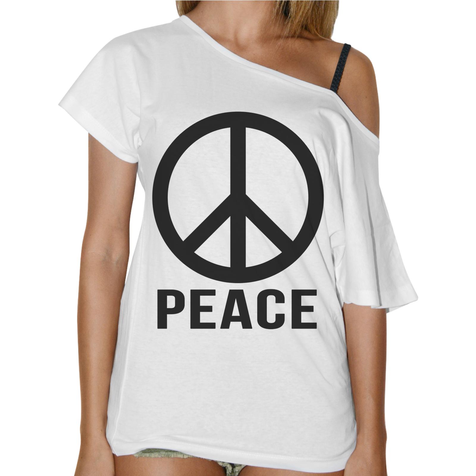 T-Shirt Donna Collo Barca PEACE