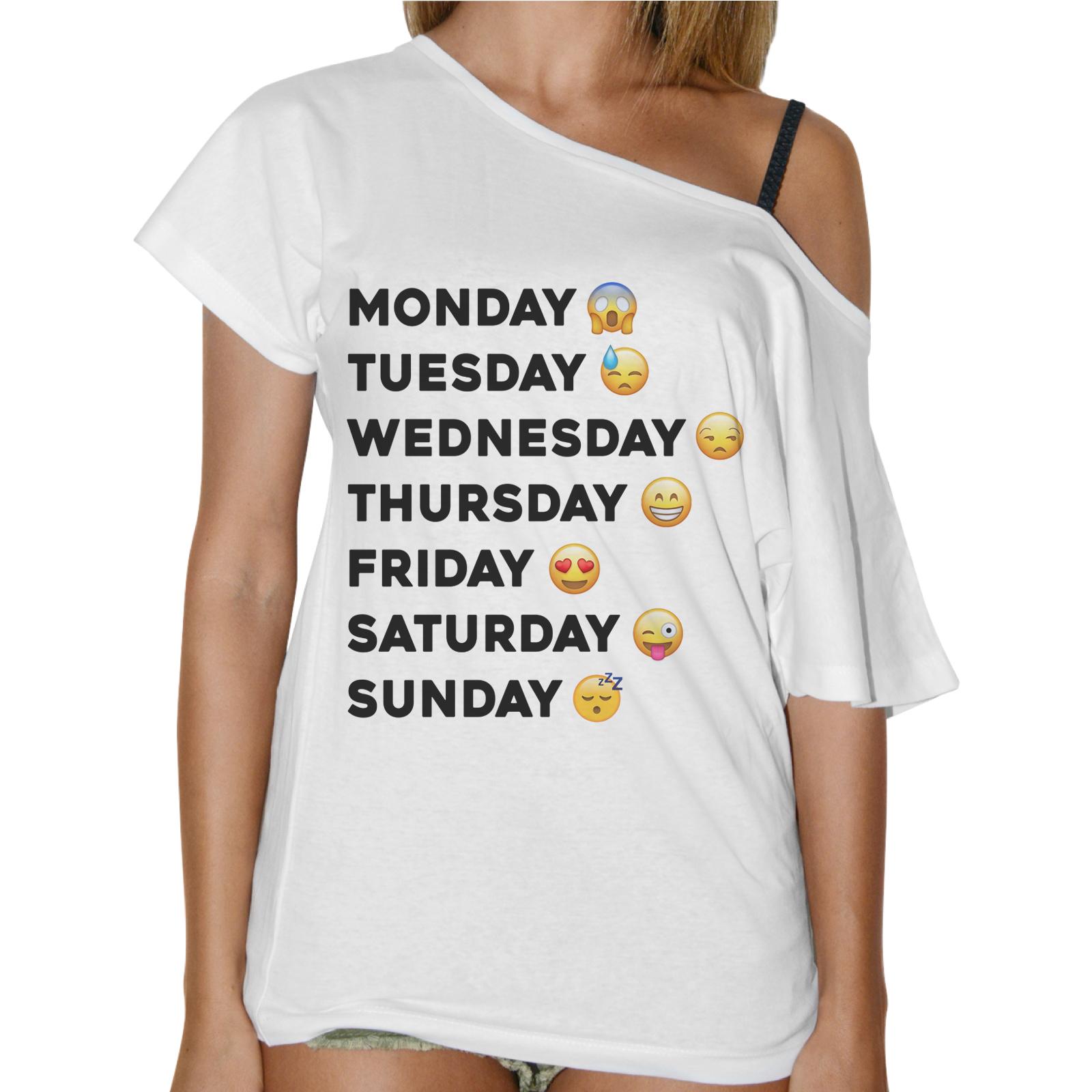 T-Shirt Donna Collo Barca WEEK FACCINA