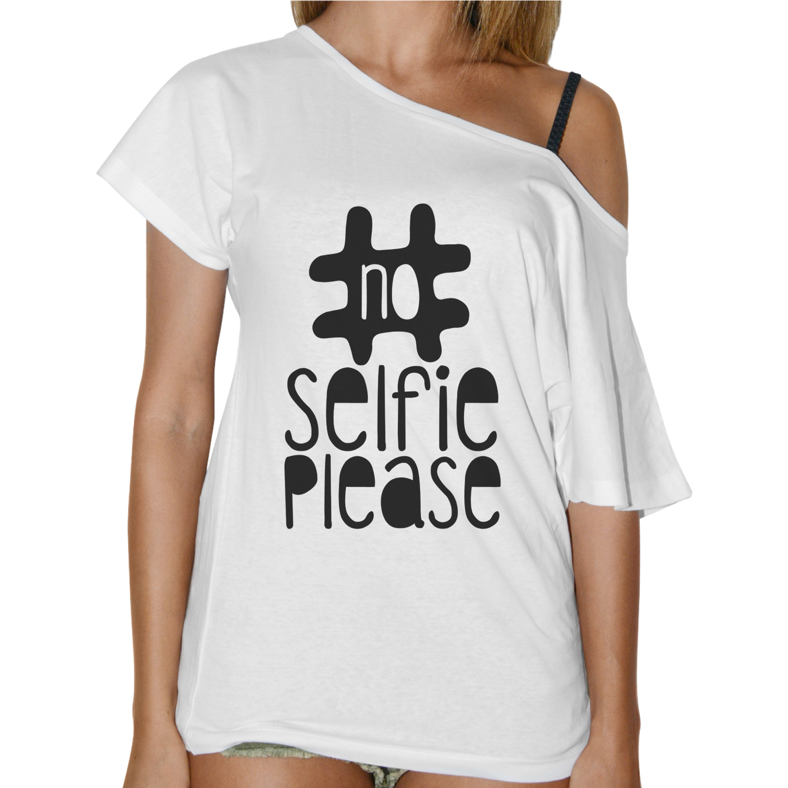 T-Shirt Donna Collo Barca NO SELFIE PLEASE