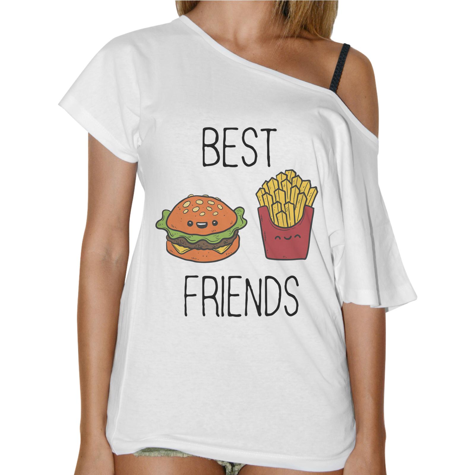 T-Shirt Donna Collo Barca BEST FRIEND MENU