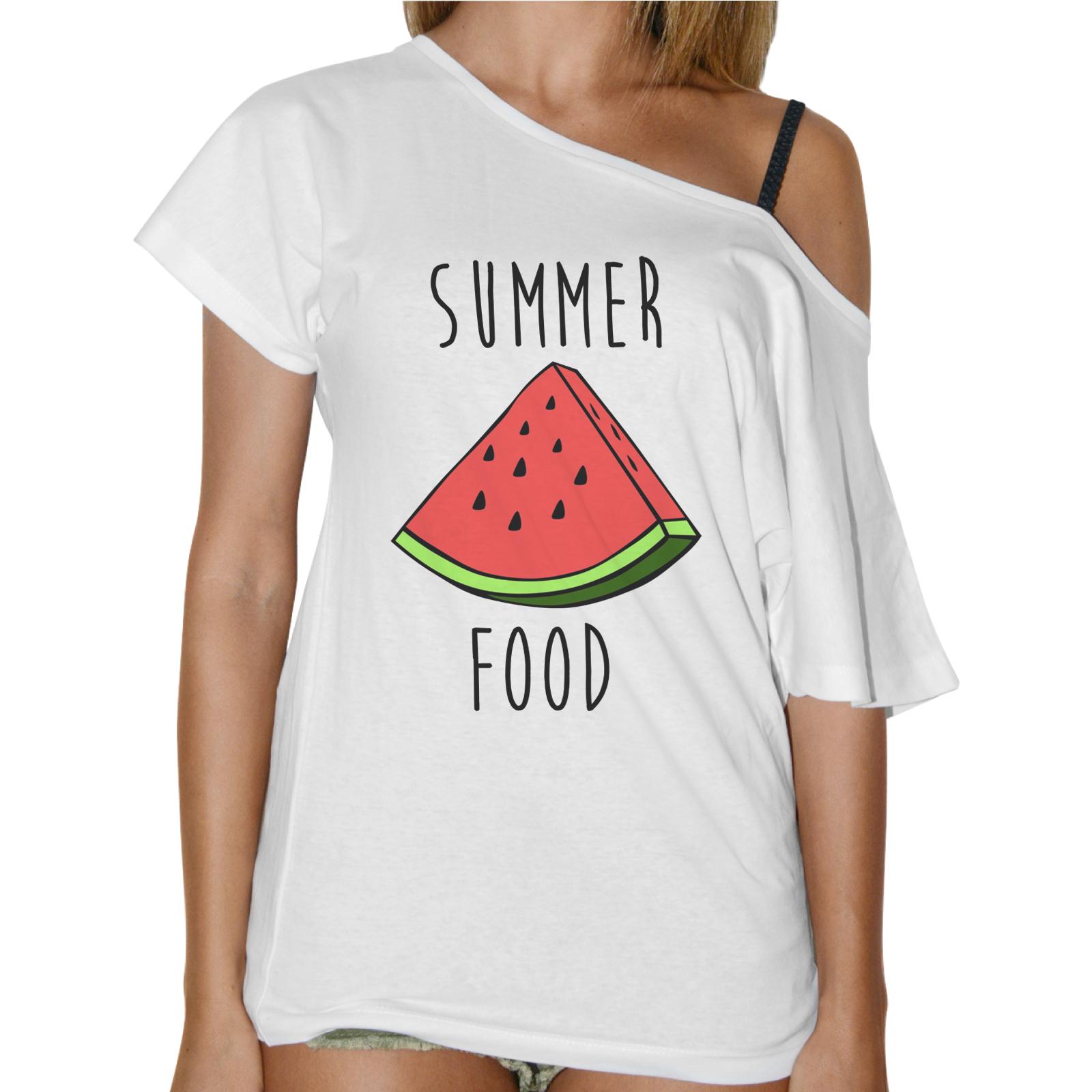 T-Shirt Donna Collo Barca SUMMER FOOD