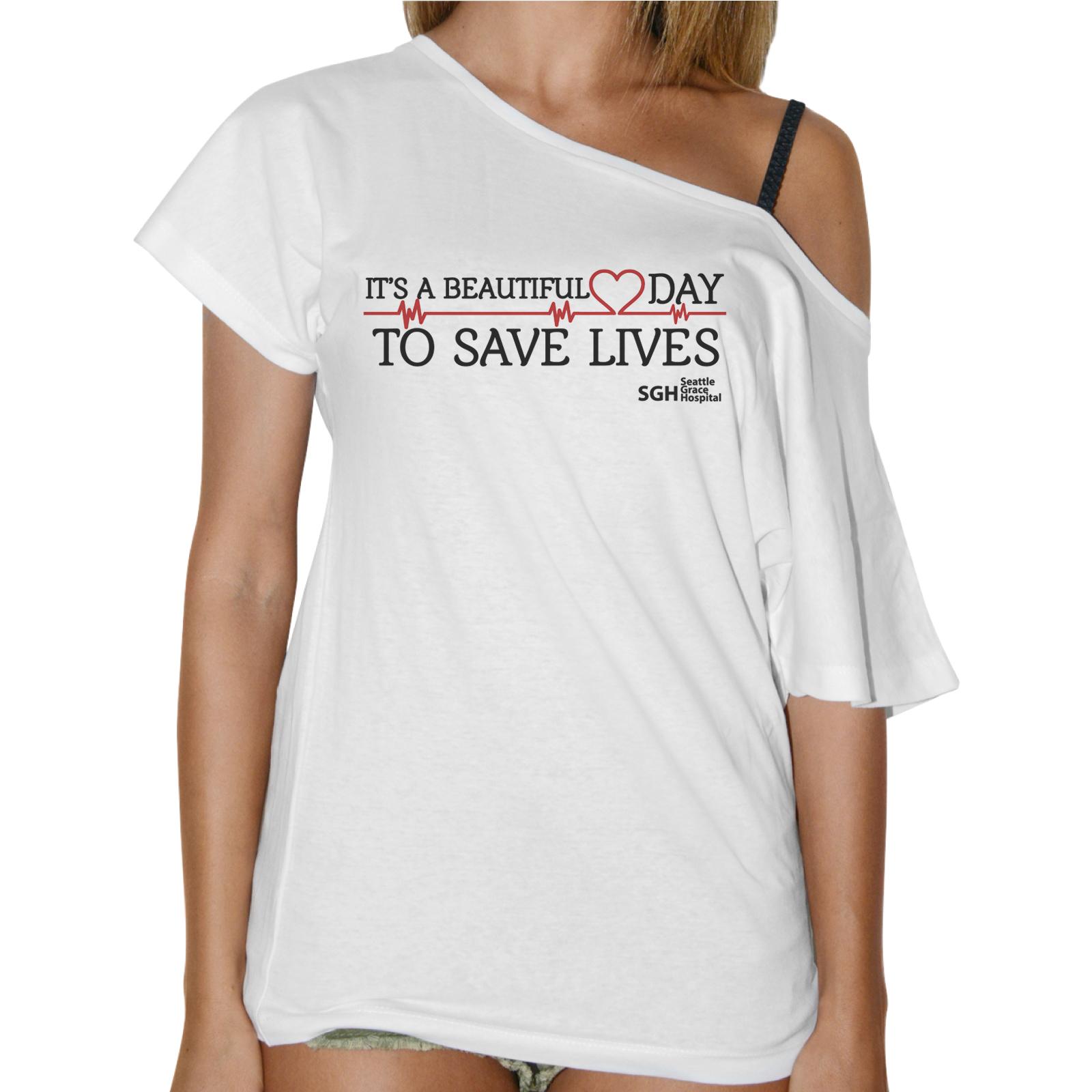T-Shirt Donna Collo Barca BEAUTIFUL DAY GREY'S ANATOMY