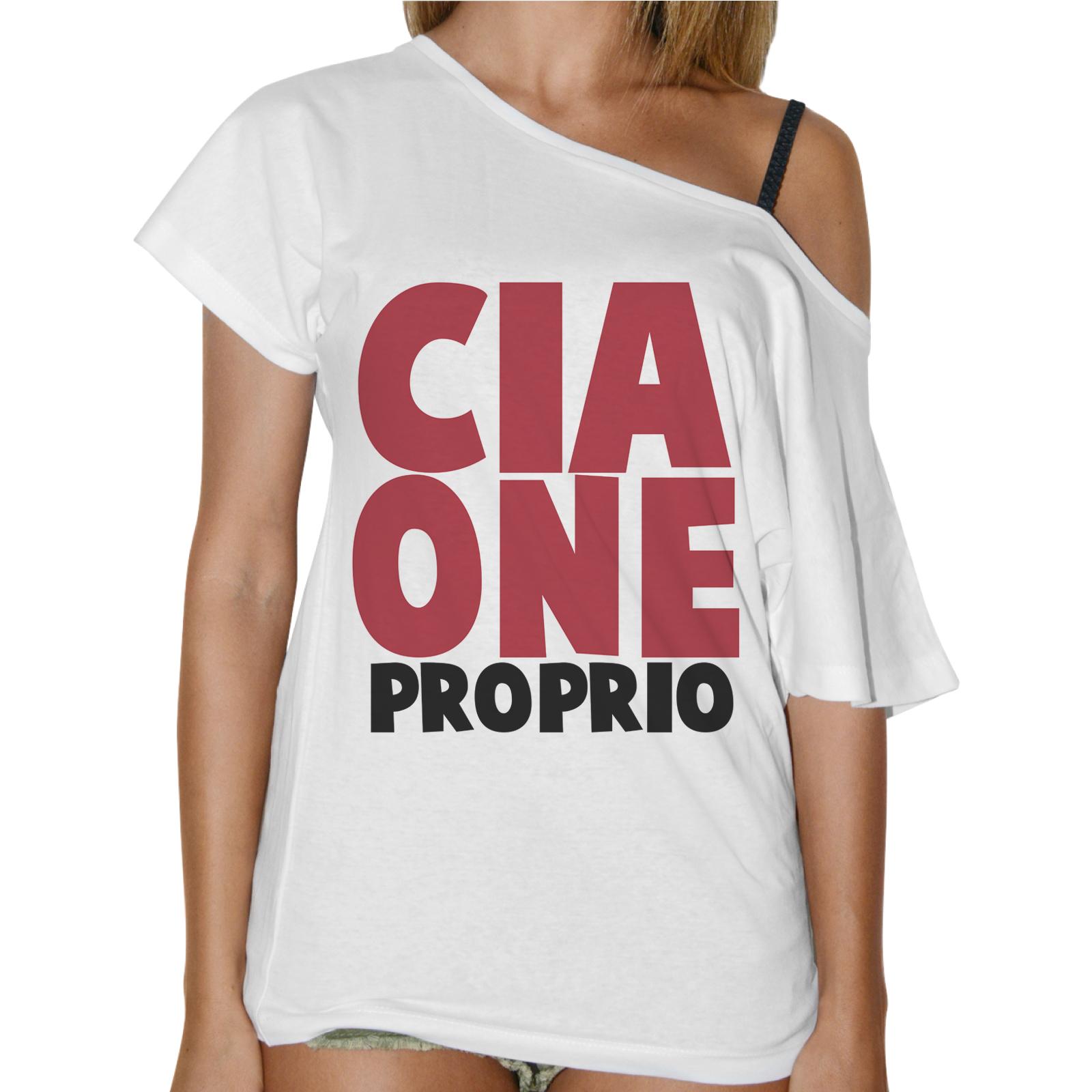 T-Shirt Donna Collo Barca CIAONE PROPRIO