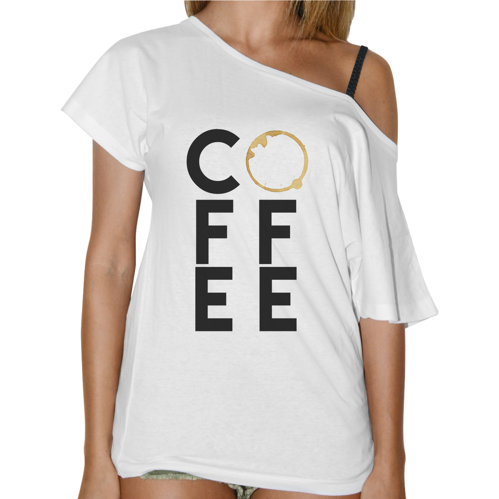 T-Shirt Donna Collo Barca COFFEE