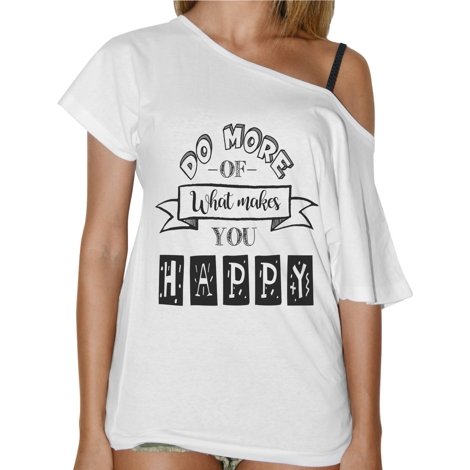 T-Shirt Donna Collo Barca HAPPY