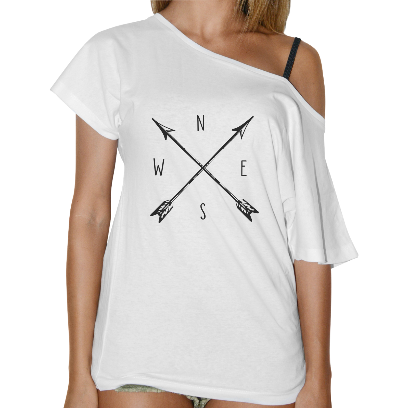 T-Shirt Donna Collo Barca BUSSOLA VINTAGE