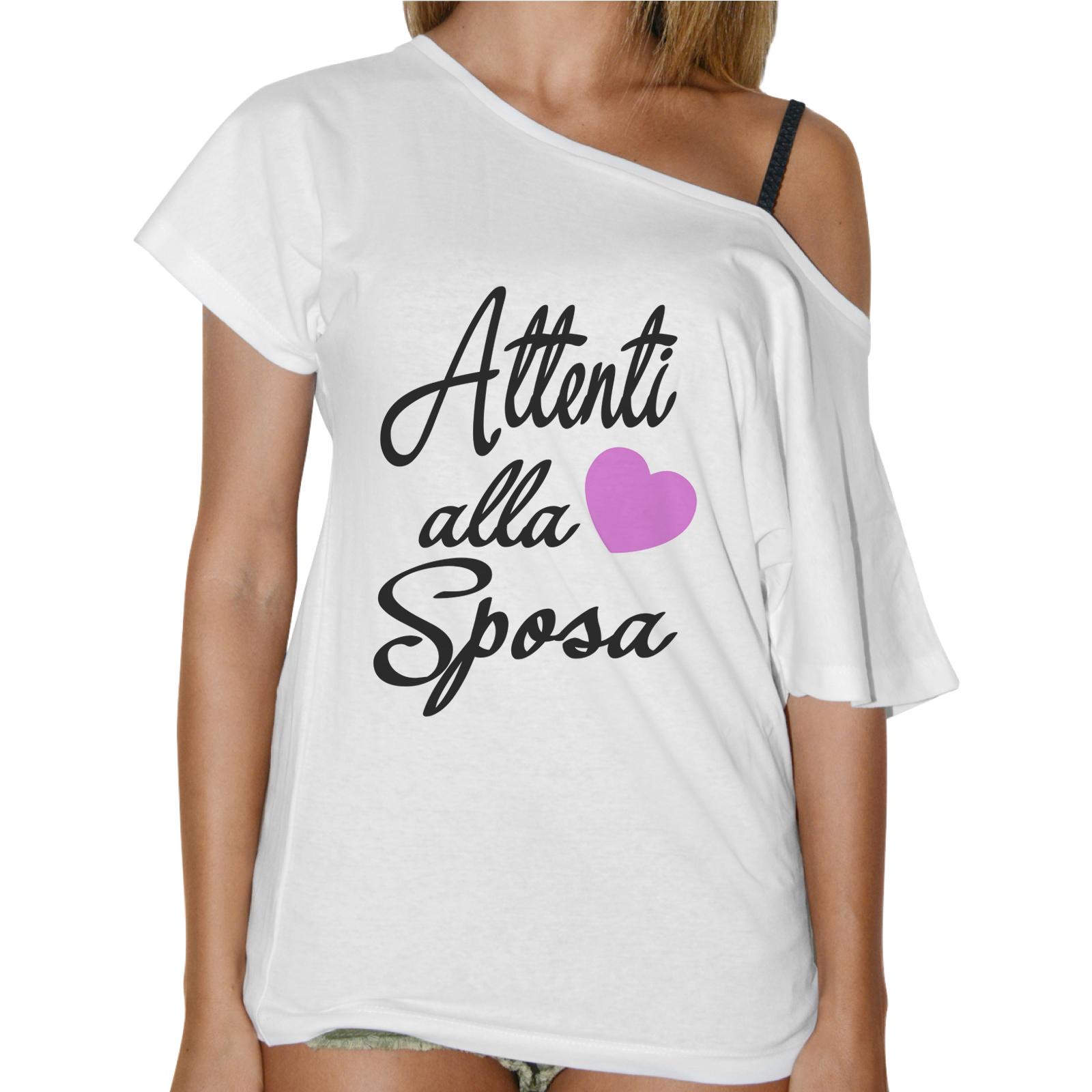 T-Shirt Donna Collo Barca ATTENTI ALLA SPOSA