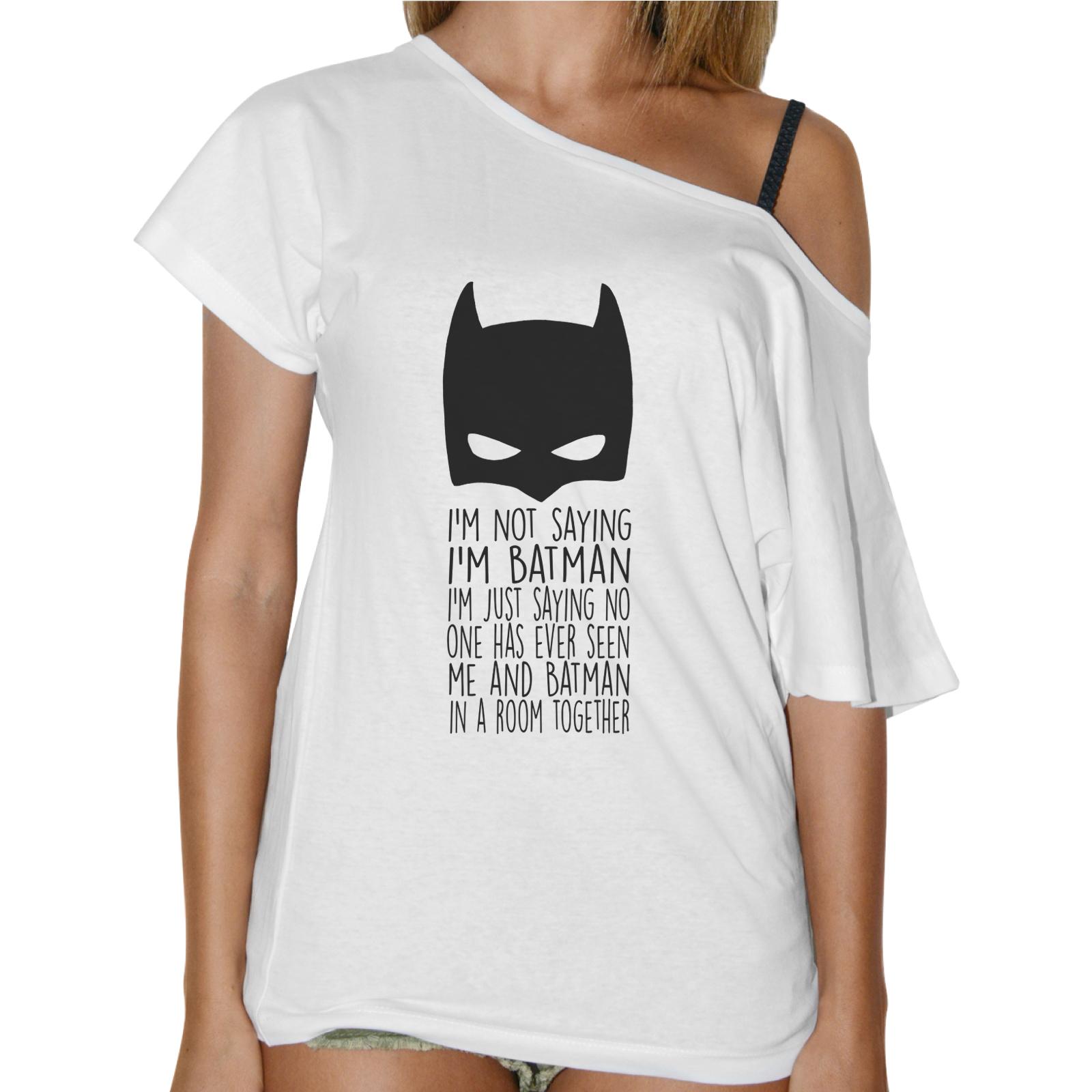 T-Shirt Donna Collo Barca I AM NOT BATMAN