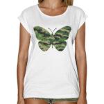 T-Shirt Donna Fashion FARFALLA MILITARE