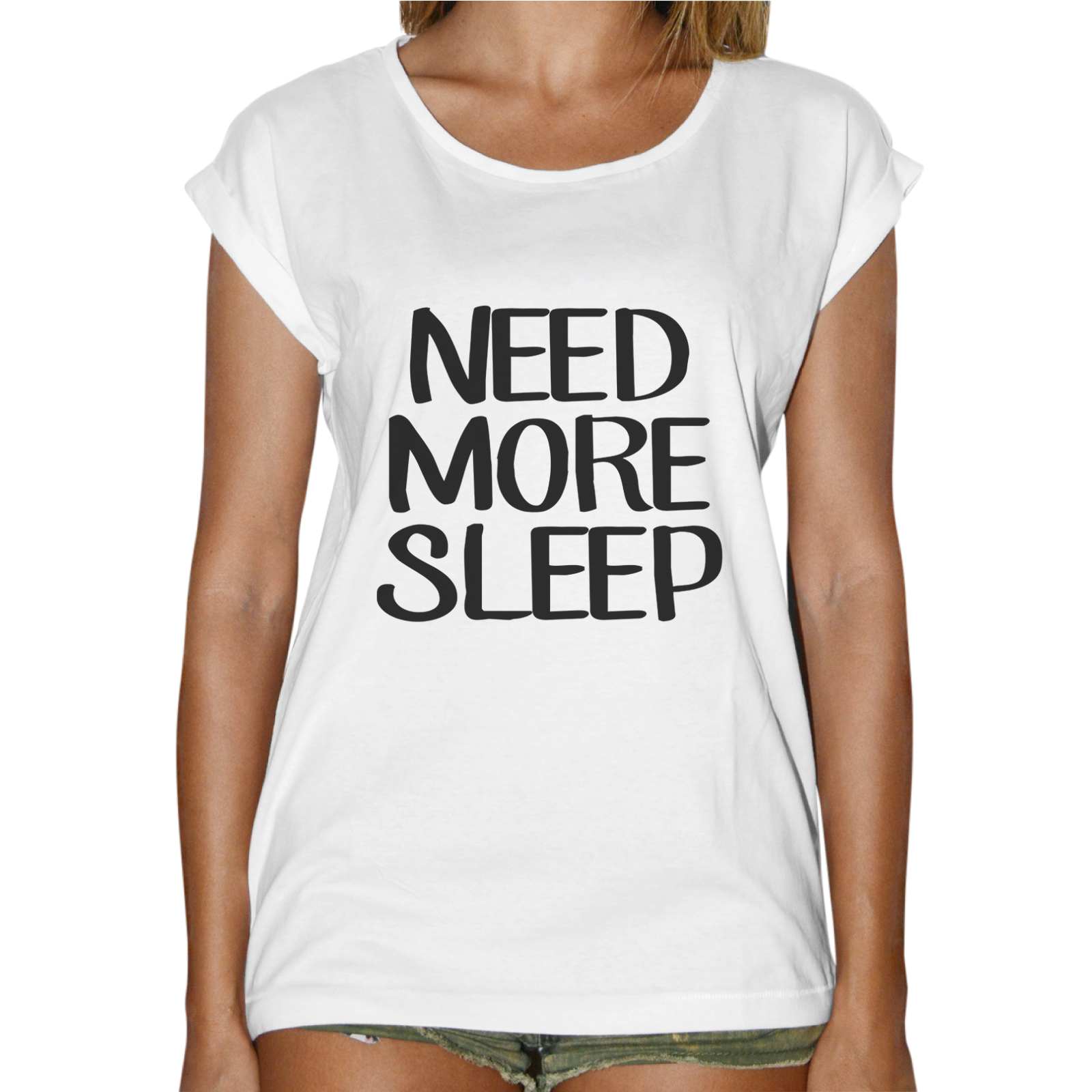 T-Shirt Donna Fashion NEED MORE SLEEP