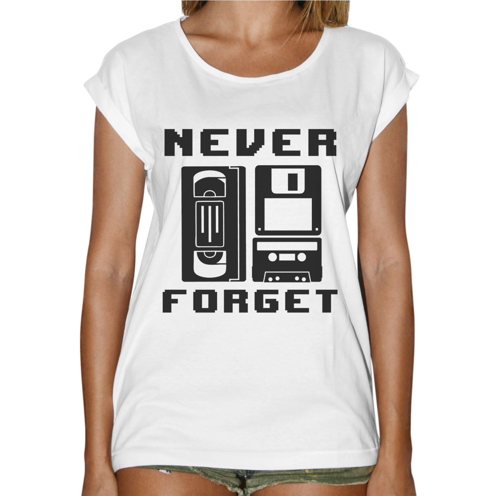 T-Shirt Donna Fashion NEVER FORGET