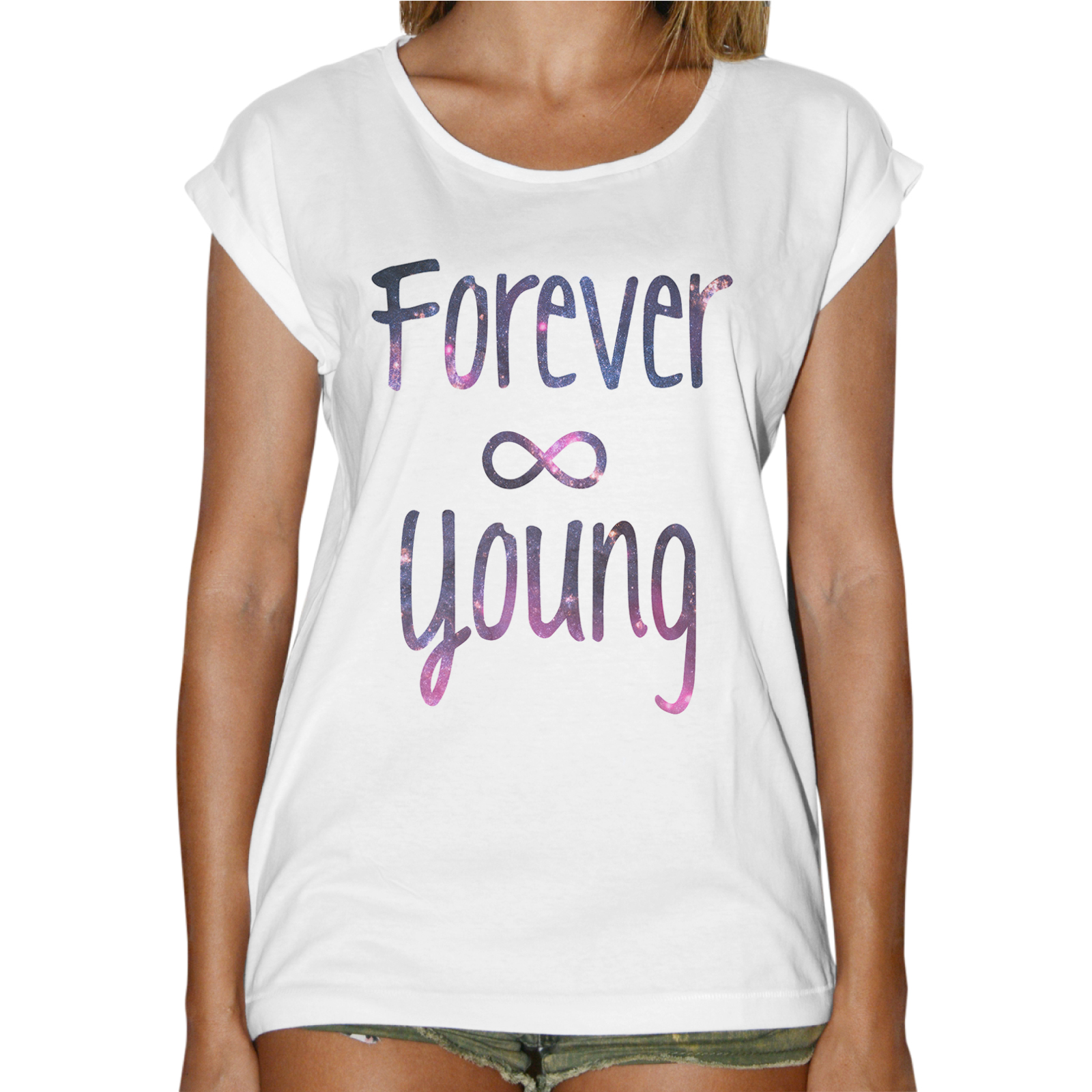 T-Shirt Donna Fashion FOREVER YOUNG