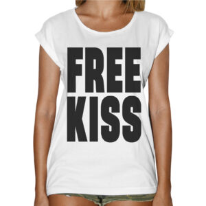 T-Shirt Donna Fashion FREE KISS