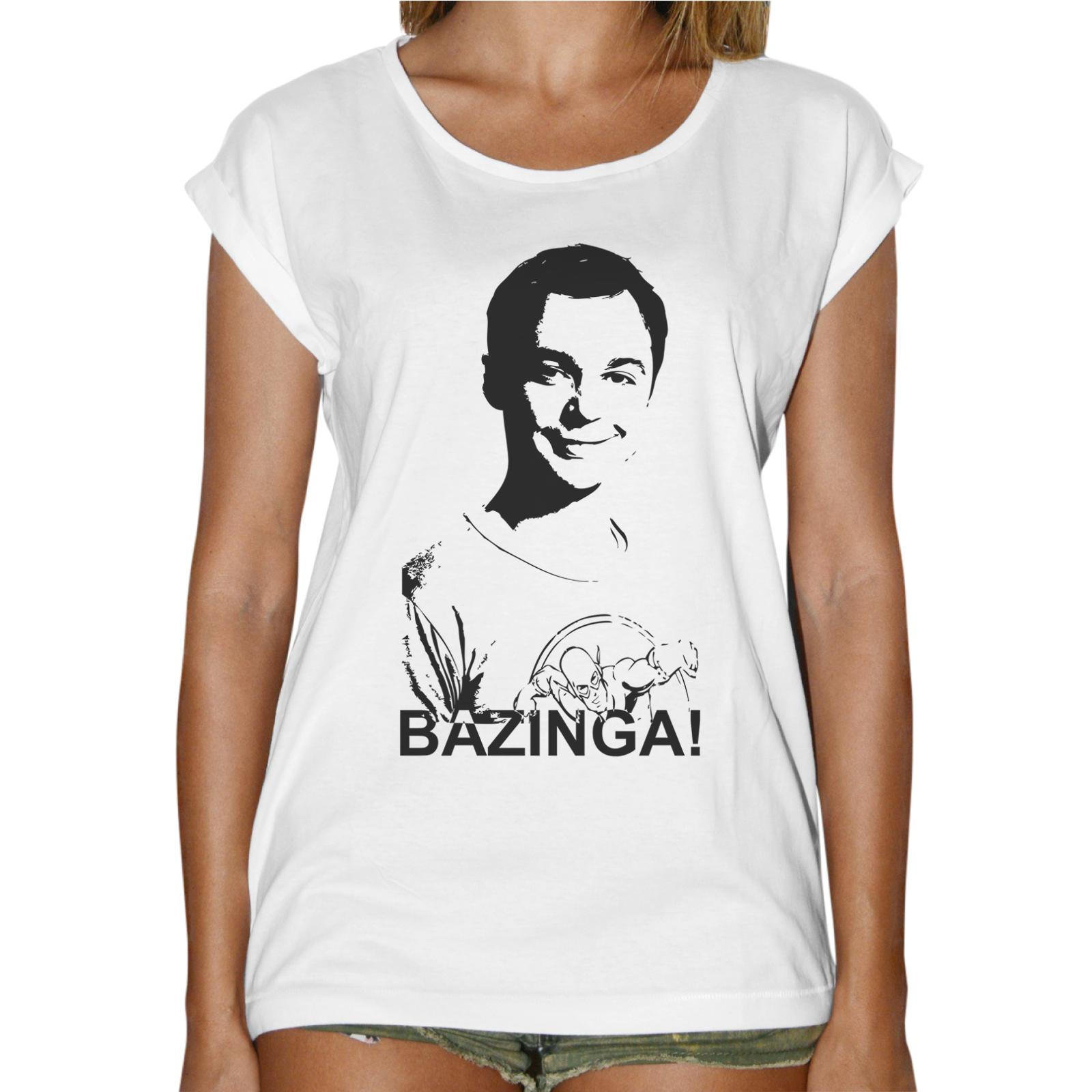 T-Shirt Donna Fashion BAZINGA SHELDON 1