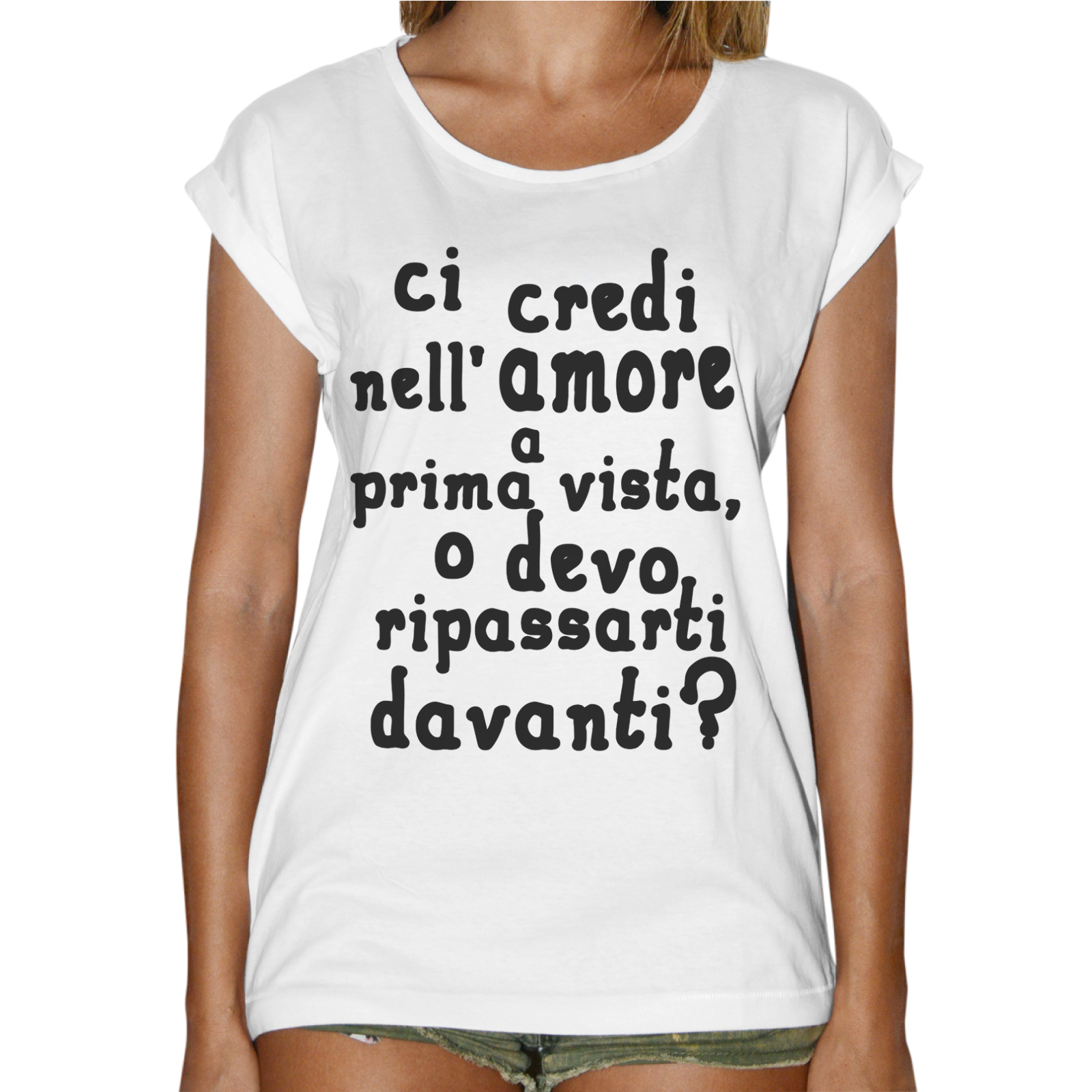 T-Shirt Donna Fashion AMORE A PRIMA VISTA
