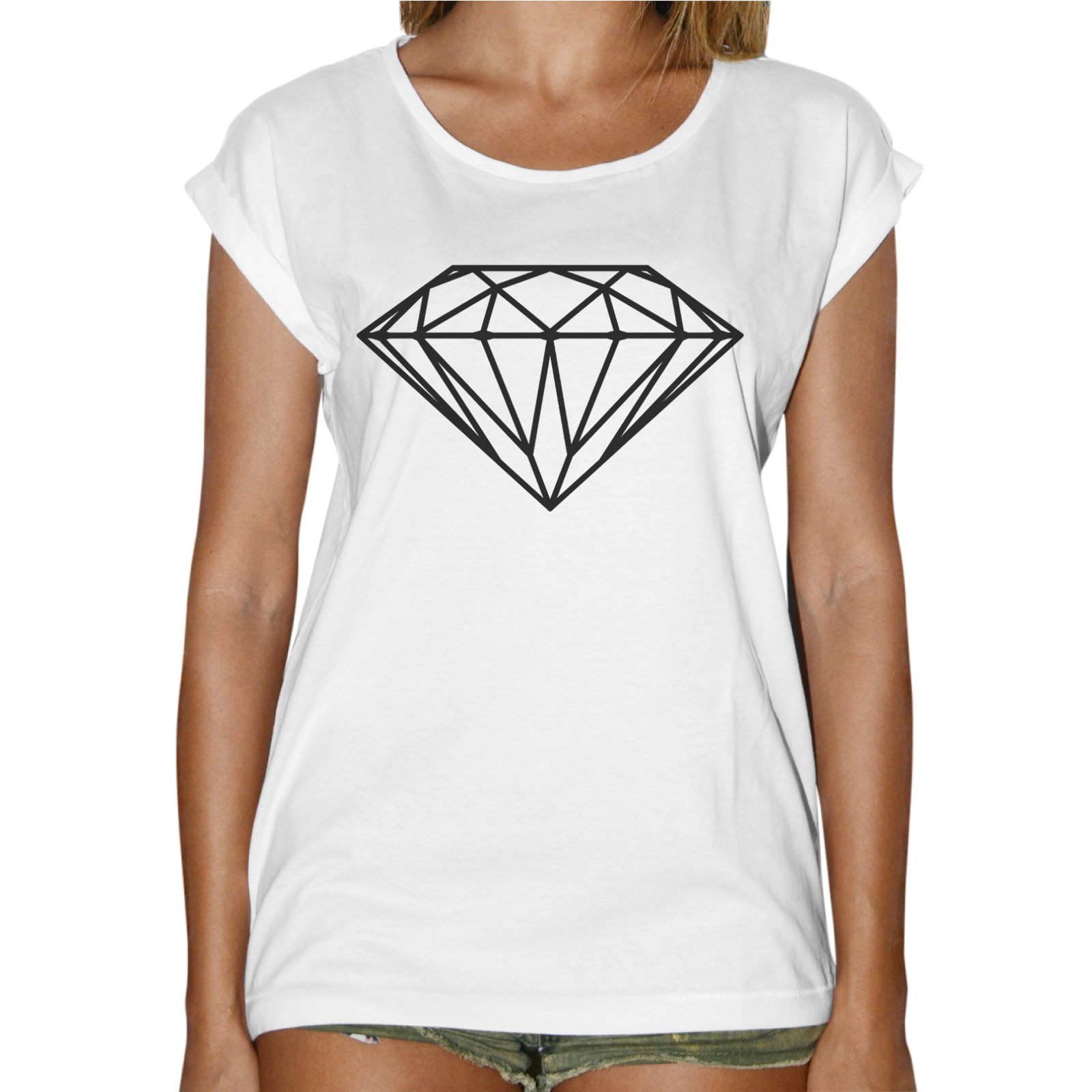 T-Shirt Donna Fashion DIAMANTE BASIC