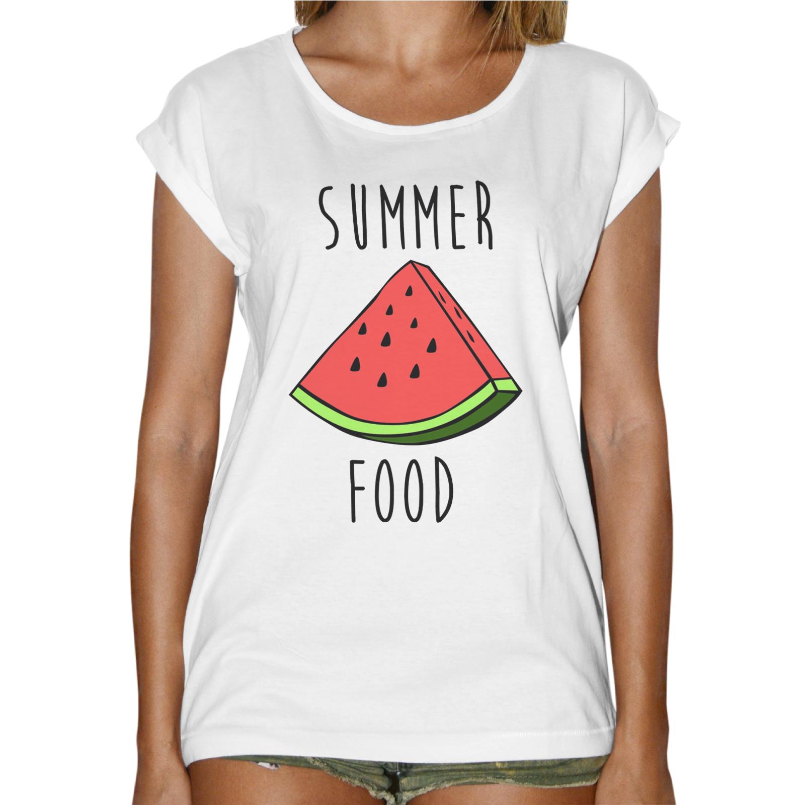 T-Shirt Donna Fashion SUMMER FOOD