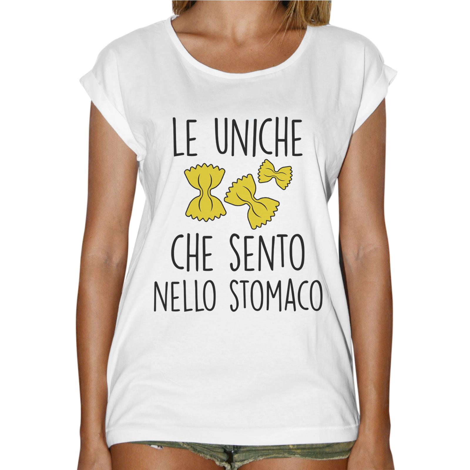 T-Shirt Donna Fashion FARFALLE NELLO STOMACO