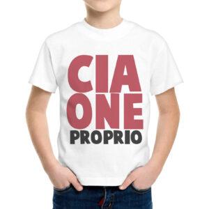 T-Shirt Bambino CIAONE PROPRIO