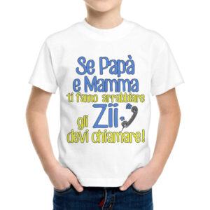 T-Shirt Bambino GLI ZII DEVI CHIAMARE