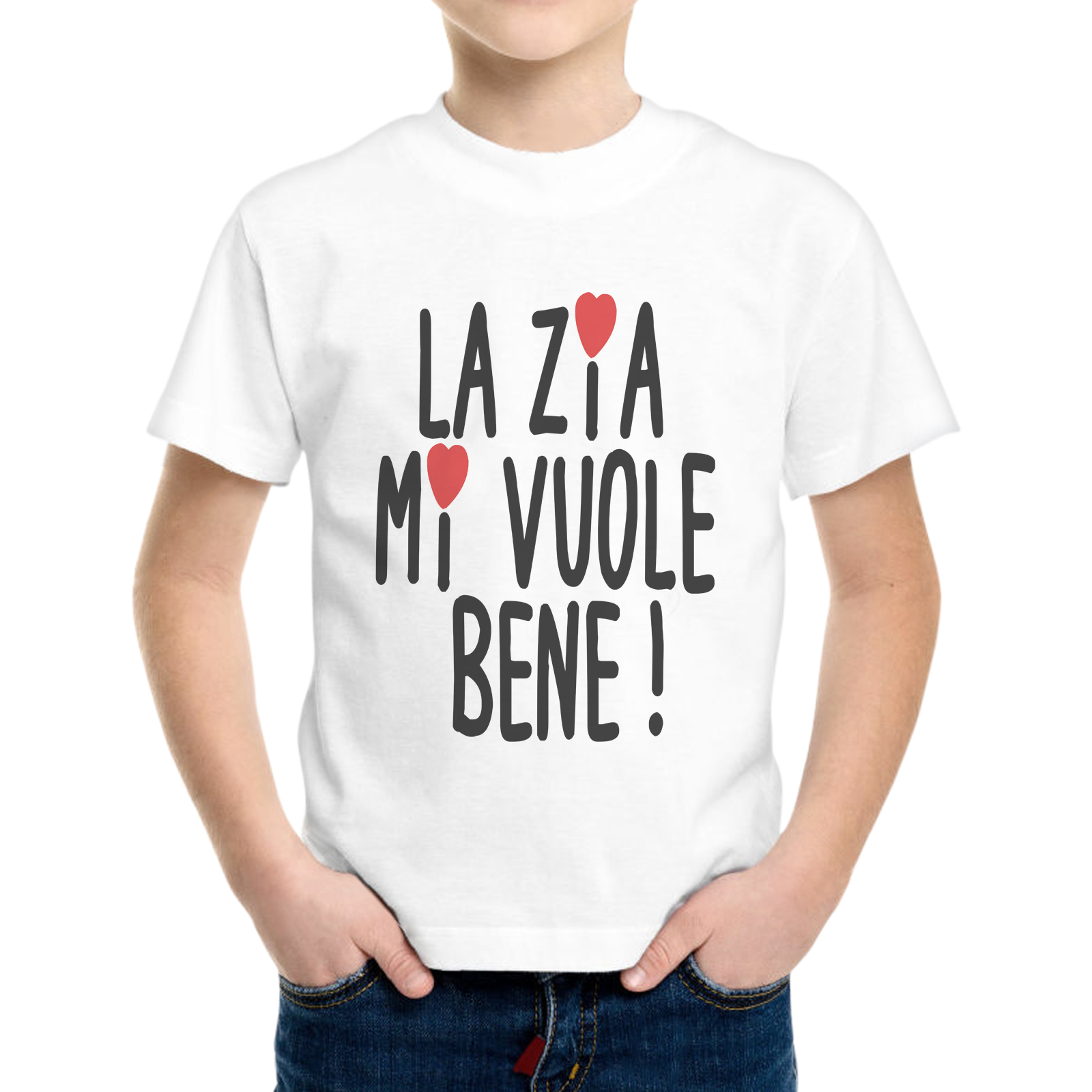 T-Shirt Bambino ZIA MI VUOLE BENE