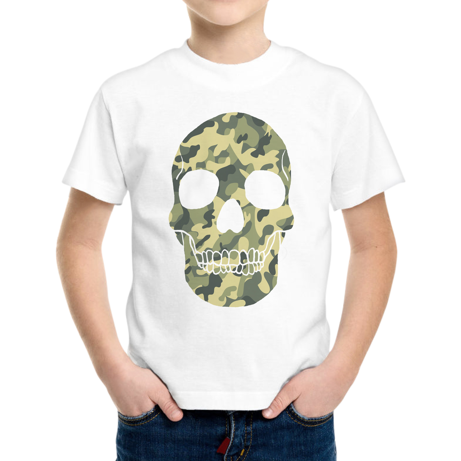 T-Shirt Bambino MILITAR SKULL
