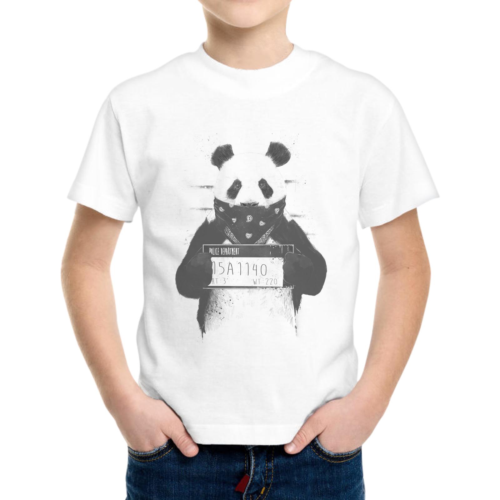 T-Shirt Bambino PANDA WANTED