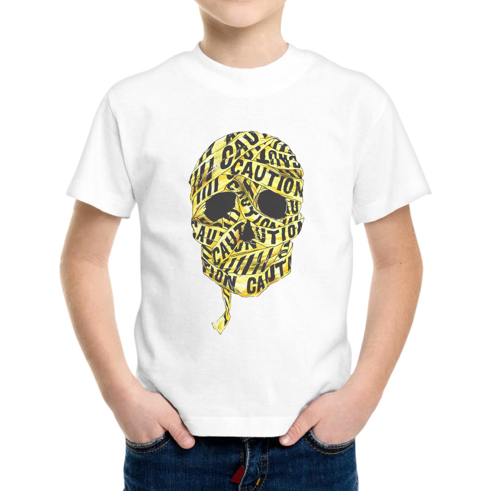 T-Shirt Bambino SKULL CAUTION