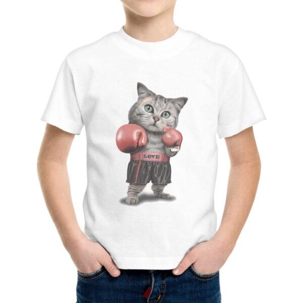 T-Shirt Bambino GATTO BOXE