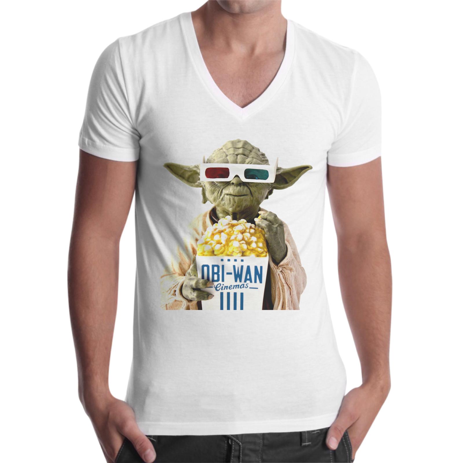 T-Shirt Uomo Scollo V OBI POP CORN