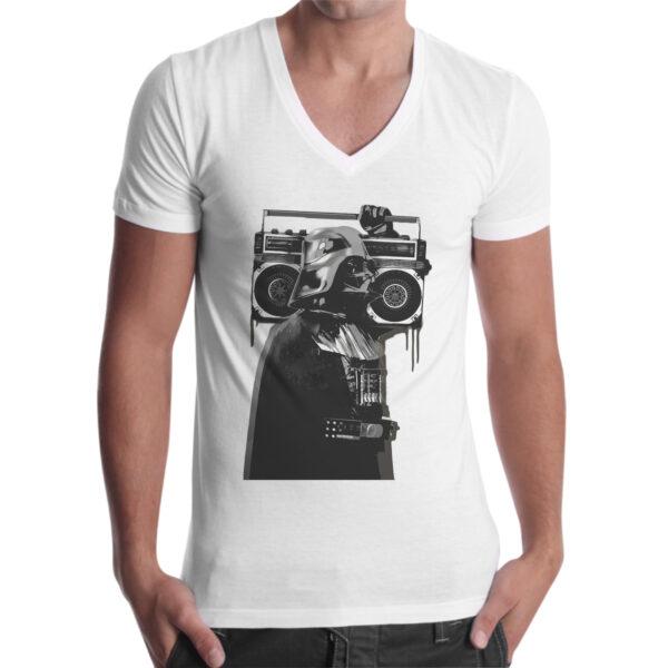T-Shirt Uomo Scollo V VADER STEREO 1