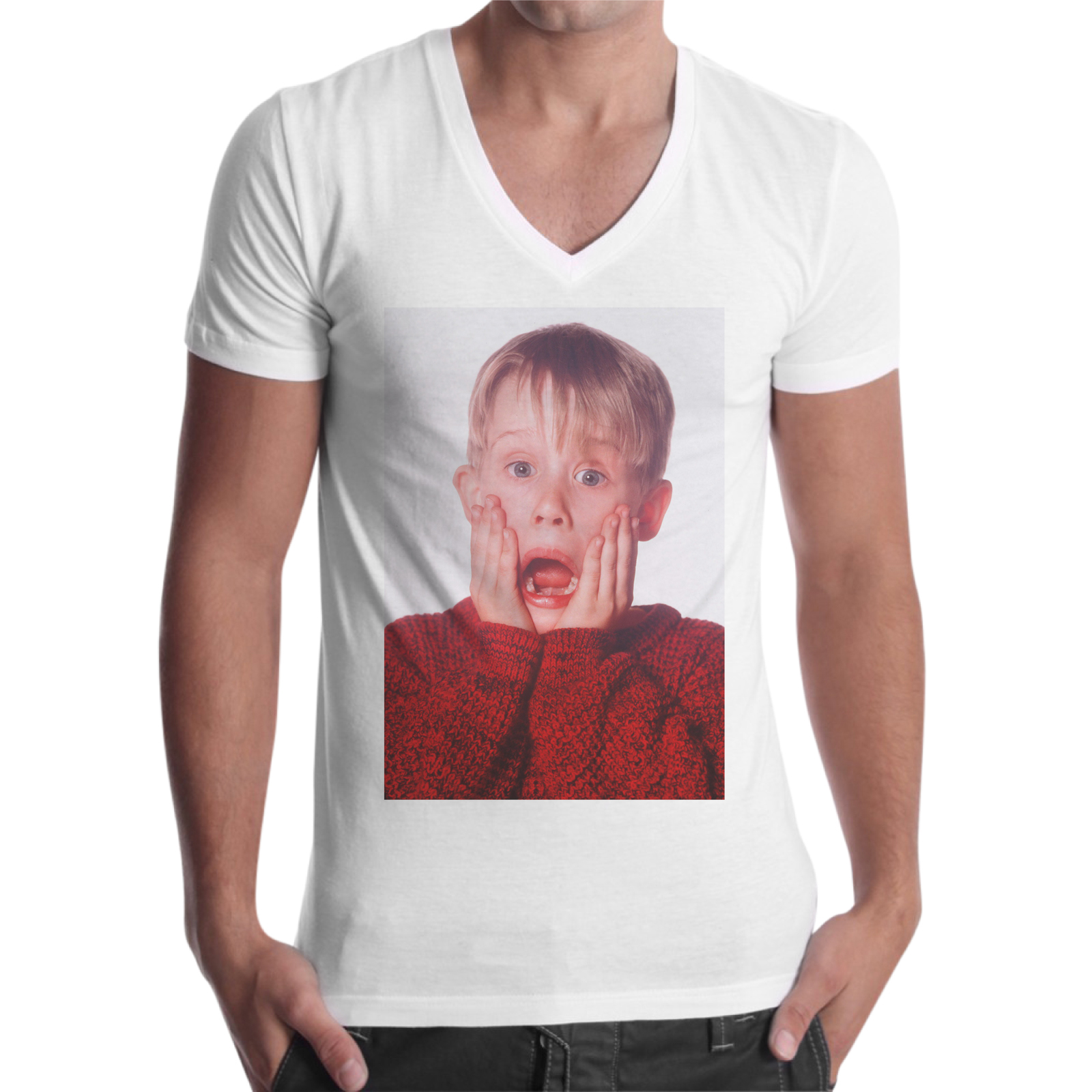 T-Shirt Uomo Scollo V KEVIN URLO