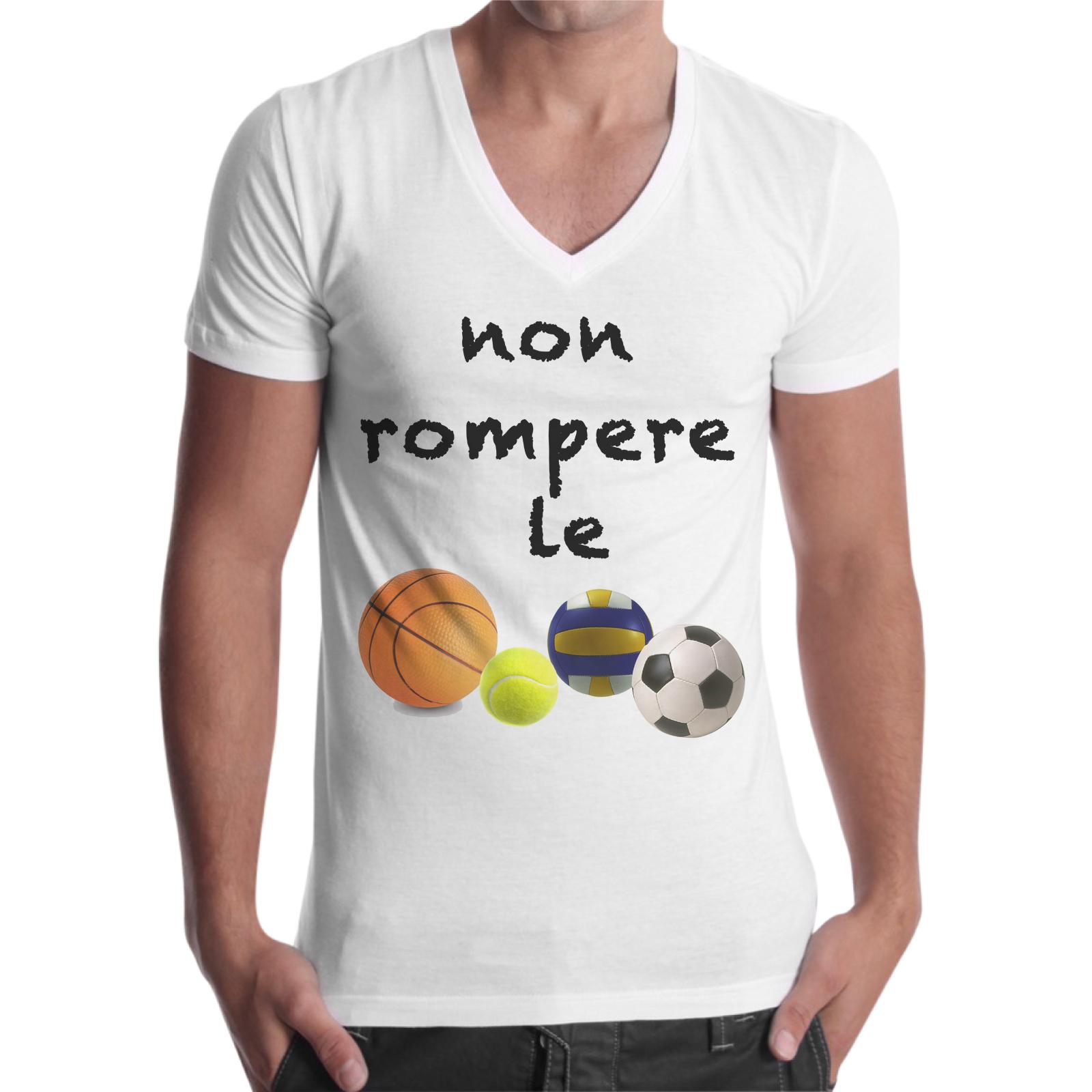 T-Shirt Uomo Scollo V NON ROMPERE