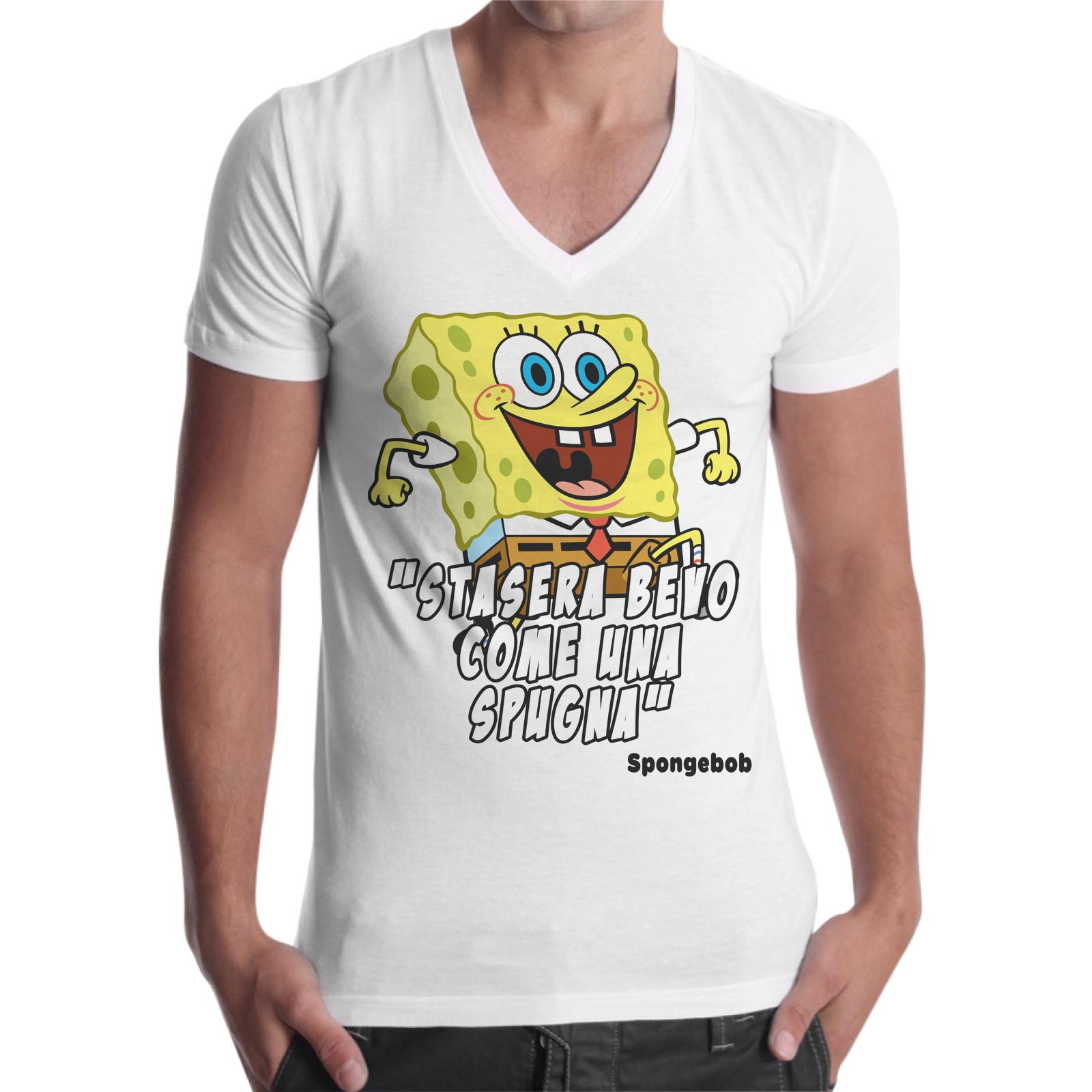 T-Shirt Uomo Scollo V BEVO COME UNA SPUGNA