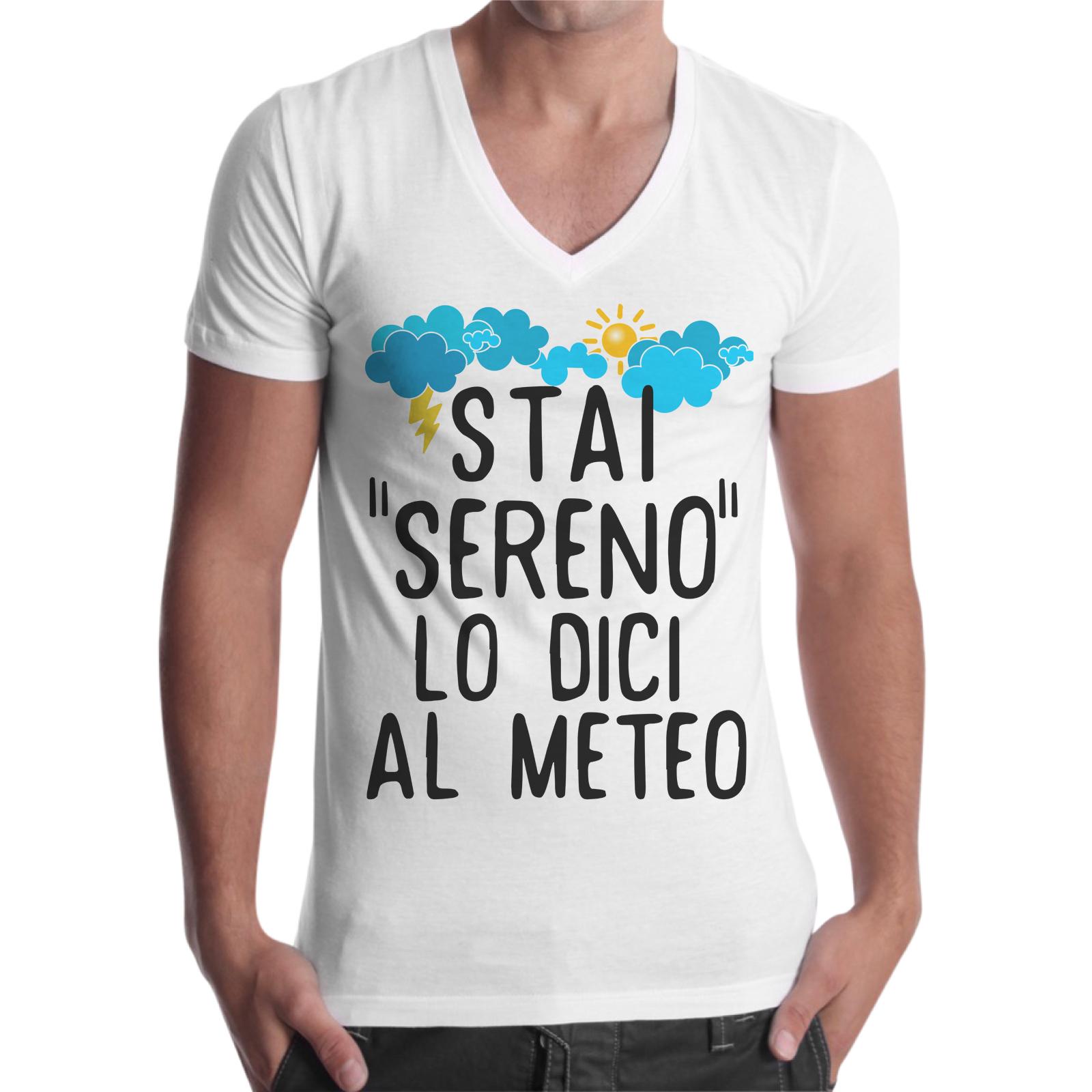 T-Shirt Uomo Scollo V STAI SERENO