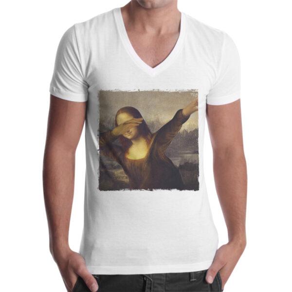 T-Shirt Uomo Scollo V DAB GIOCONDA 1
